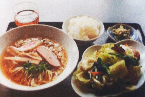 野菜炒めラーメンセット